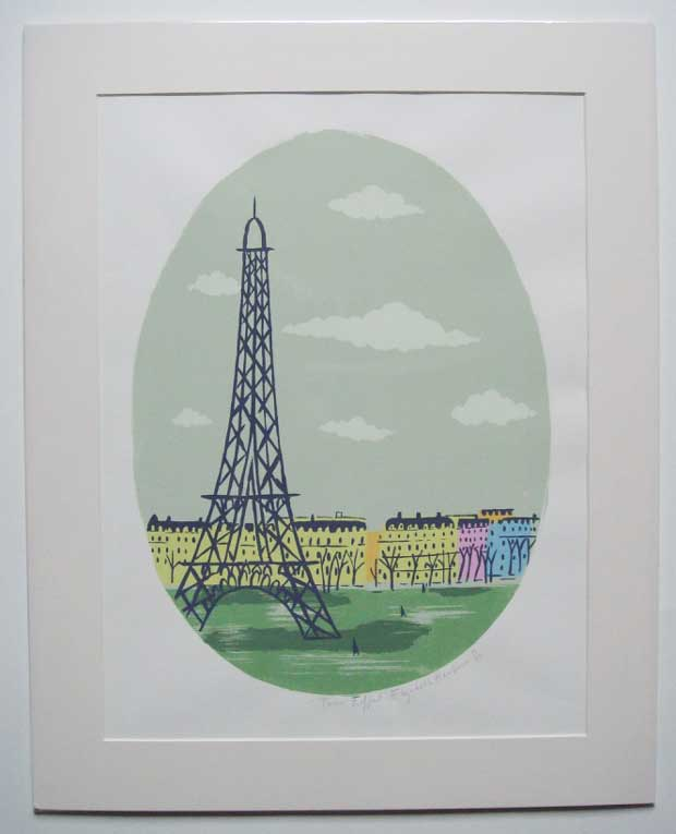 'Tour Eiffel' by Elizabeth Harbour a limited edition screen-print