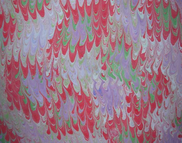 hand marbled papers 11 combed marbling Elizabeth Harbour