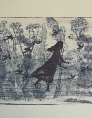 A mono-print by Elizabeth Harbour 'Autumn No:4'
