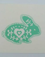 'Easter Bunny' a hand screen-printed card by Elizabeth Harbour