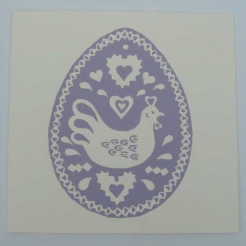 'Easter Egg' a hand screen-printed card by Elizabeth Harbour