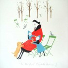 A limited edition hand stencilled print 'In the Park' by Elizabeth Harbour
