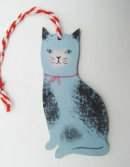 Hand painted wooden decoration by Elizabeth Harbour
