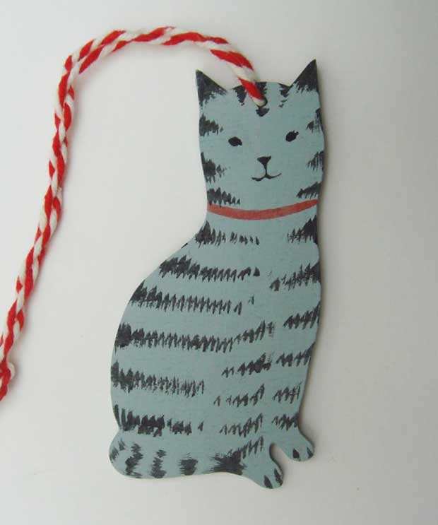'Tabby Cat' decoration by Elizabeth Harbour