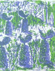 A limited edition screen-print 'The Forbidden Garden' by Elizabeth Harbour