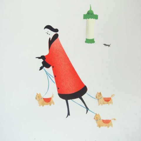 A limited edition hand stencilled print by Elizabeth Harbour