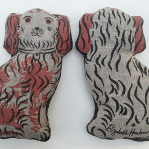 'Lavender Spaniel ' screen-printed linen lavender bag by Elizabeth Harbour