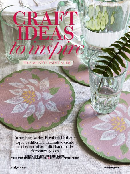 Elizabeth Harbour's 'Ideas to Inspire: Paint & Ink' - the March Issue of Country Living Magazine