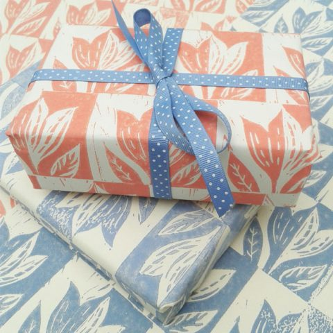 Hand-printed papers by Elizabeth Harbour