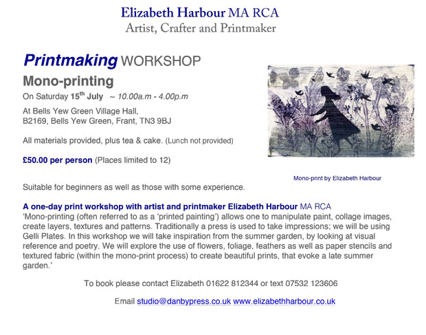 Printmaking Workshop - Mono-printing with Elizabeth Harbour