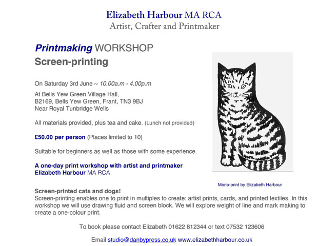 Printmaking Workshop - Screen-printing with Elizabeth Harbour