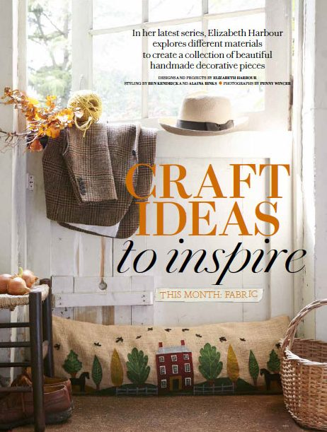 Autumn Craft Ideas to Inspire, Elizabeth Harbour for Country Living Magazine - Fabric