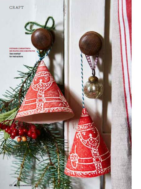 Father Christmas Decoration - Ideas to inspire for Country Living Magazine