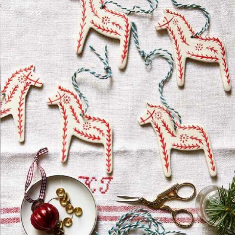 Elizabeth Harbour for Country Living Magazine, Christmas crafts