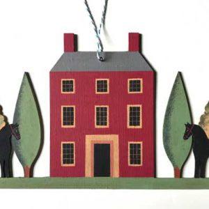 'House & Horse' Hand-painted Folk Art Wall Decoration by Elizabeth Harbour