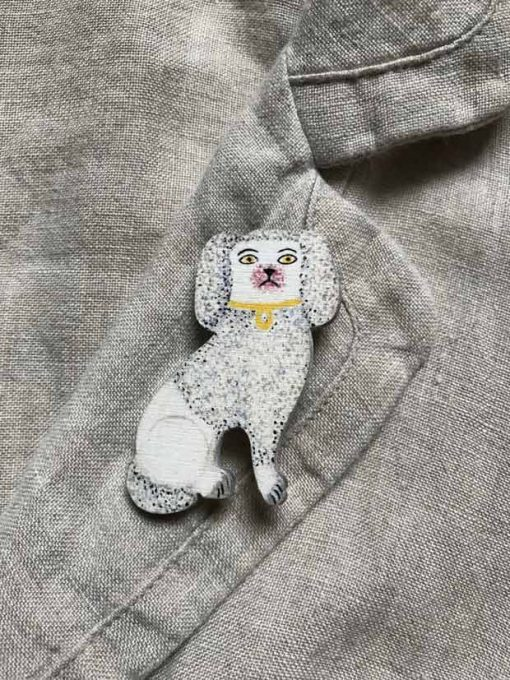 Staffordshire poodle brooch