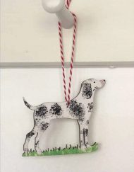Pointer dog decoration