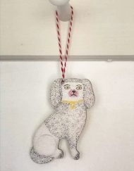 Staffordshire Poodle decoration