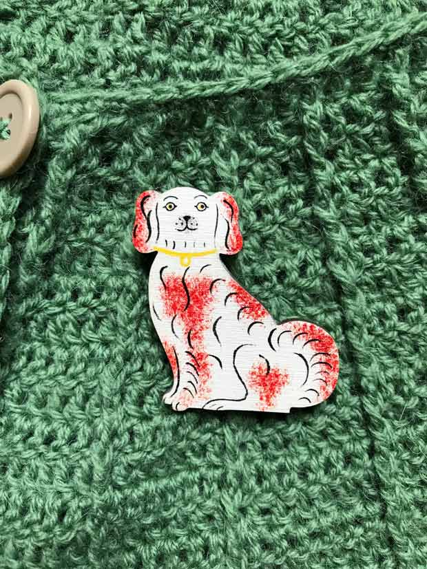 Staffordshire Dog Brooch