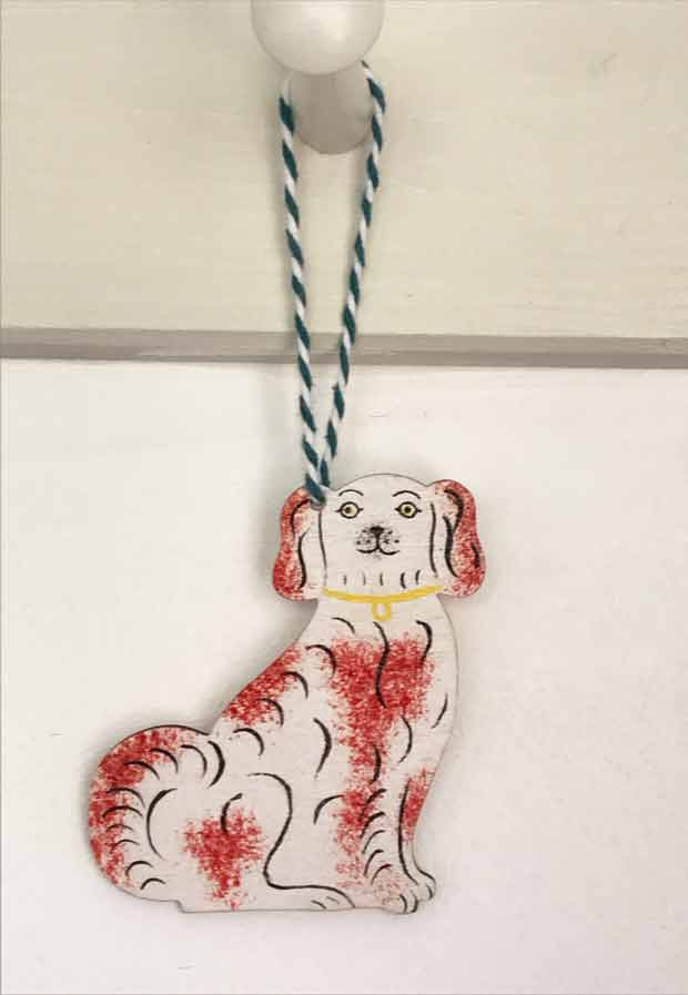 Staffordshire Dog decoration