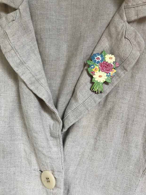 Summer Flowers brooch