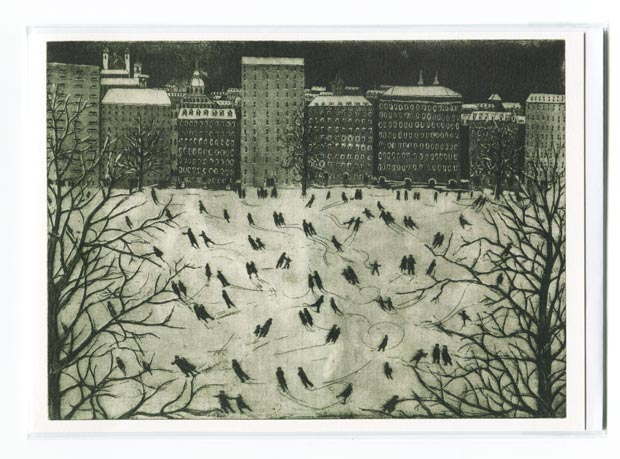 Ice Skating greetings card