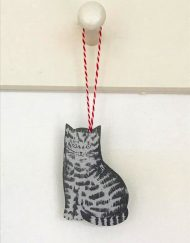 Cinder cat decoration