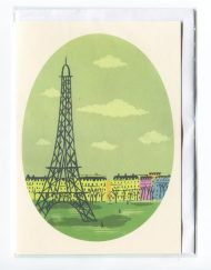Eiffel Tower greetings card