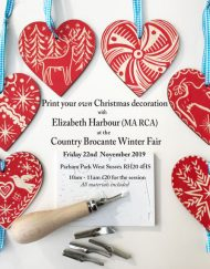 Elizabeth Harbour Print Workshop at The Country Brocante Winter Fair, Friday 22nd of November 10.00-11.00