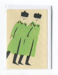 Russian Soldiers greetings card