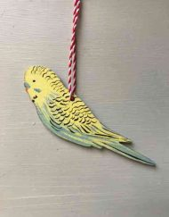 Budgerigar wooden decoration