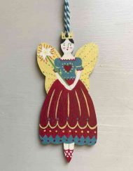Ballet fairy wooden decoration