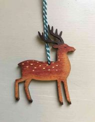 Reindeer wooden decoration