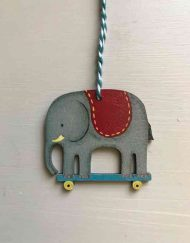 Elephant wooden decoration