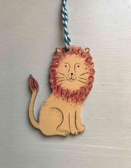 Friendly Lion wooden decoration