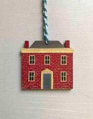 Red House wooden decoration