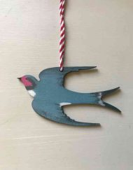 Swallow wooden decoration