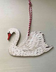 Swan wooden decoration