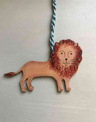 Walking Lion wooden decoration