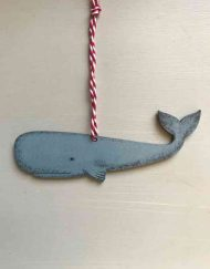 Whale wooden decoration