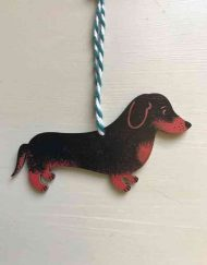 Dachshund wooden decoration