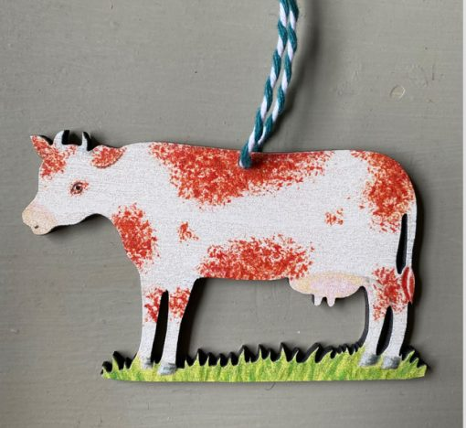 Daisy the Cow Wooden Decoration