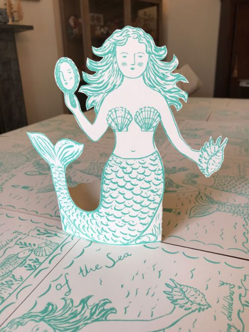 Original print 'Mermaid of the Sea' greetings card by Elizabeth Harbour