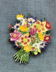 Winter Flower Brooch by Elizabeth Harbour