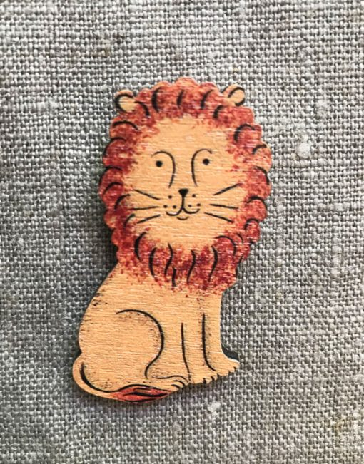 Mr Lion Brooch by Elizabeth Harbour