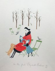 in the park pochoir original print by Elizabeth Harbour