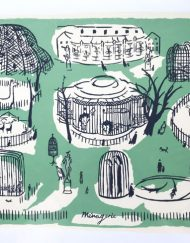 Menagerie Jardin des Plantes Paris limited edition screen-print by Elizabeth Harbour