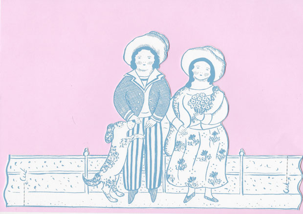 Original print 'Sailor boy & sweetheart' greetings card by Elizabeth Harbour