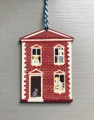 Dolls house wooden decoration by Elizabeth Harbour