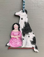 Faithful Friend wooden decoration by Elizabeth Harbour